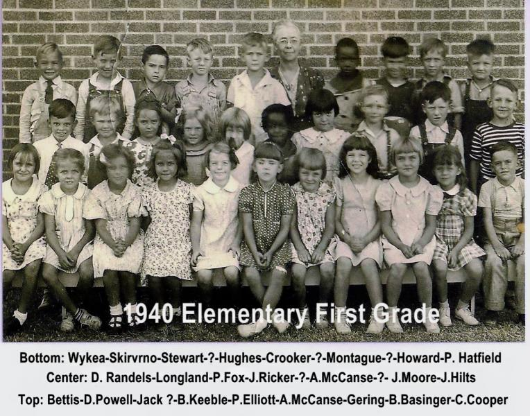 1940 Anthony Elementary First Grade Class 1 2