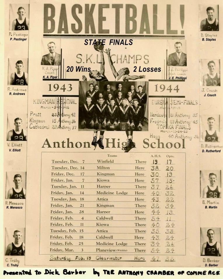 Anthony Pirates 1944 State Finals 5